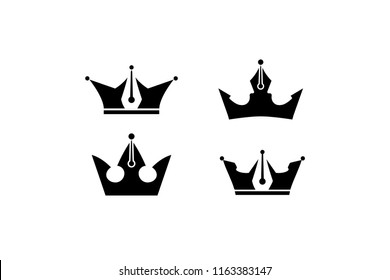 Crowns with pens