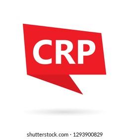 CRP (C-reactive protein) acronym on a speach bubble- vector illustration