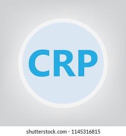 CRP (C-reactive protein) concept- vector illustration