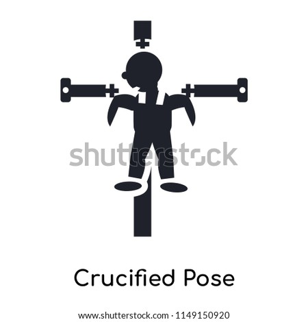 Crucified Pose Icon Vector Isolated On Stock Vector (Royalty