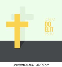 Crucifix. Symbols of Christianity and forgiveness.