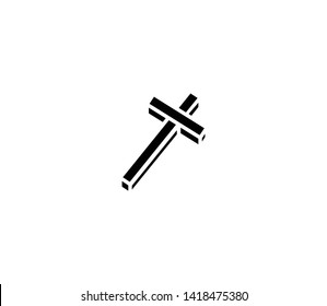 Crucifix vector isolated flat illustration. Crucifix icon