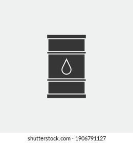 crude oil drum vector icon gasoline gallon storage