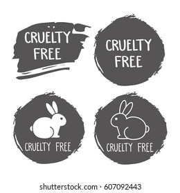 Cruelty free icon. No animals testing signs. Vector illustration