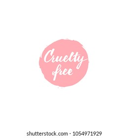 Cruelty free letterng badge vector