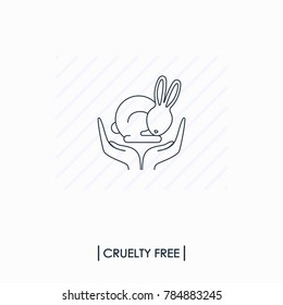 Cruelty free logo. Not tested on animals