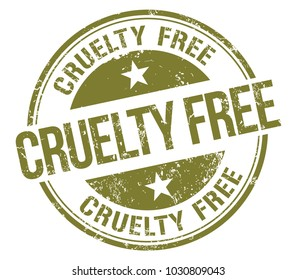 Cruelty Free. Vector Rubber Stamp.