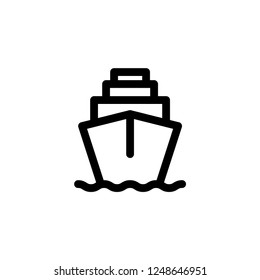Cruise icon. Sea travel sign