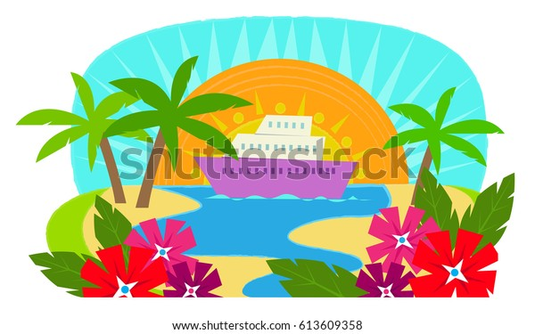 Cruise Ship Clip Art Cruise Ship Stock Vector Royalty Free 613609358