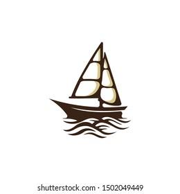 Cruise Ship Creative Vector Logo Design