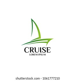 Cruise Ship Logo Icon Design Template. Vector Illustration