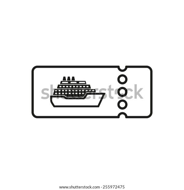 The cruise ship tickets icon. Travel symbol. Flat Vector illustration