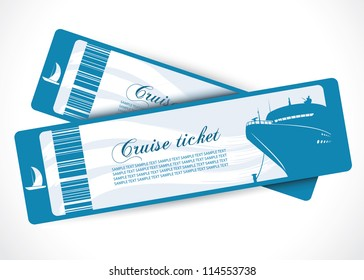 Cruise ship tickets - vector illustration