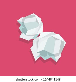 Crumpled paper ball. Vector illustration