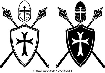 Crusader Crest Armor and Mace Weapon