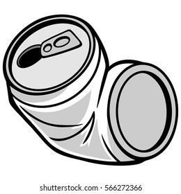 Crushed Can Illustration