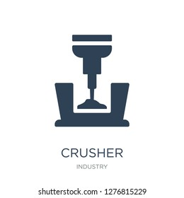 crusher icon vector on white background, crusher trendy filled icons from Industry collection, crusher vector illustration