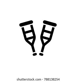 Crutches Equipment Icon