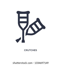 crutches icon. Simple element illustration from medical concept. crutches editable symbol design on white background. Can be use for web and mobile.