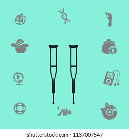 Crutches vector illustration