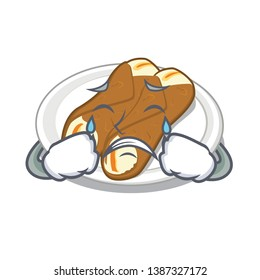 Crying cannoli isolated with in the character