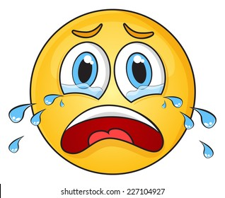 crying face images stock photos vectors shutterstock rh shutterstock com cartoon crying face images crying cartoon face girl
