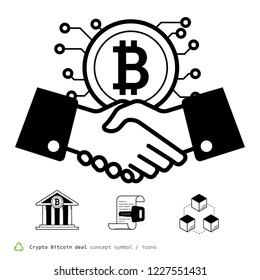 Crypto Bitcoin deal icons