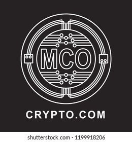 crypto.com coin Cryptocurrency  icon with black background