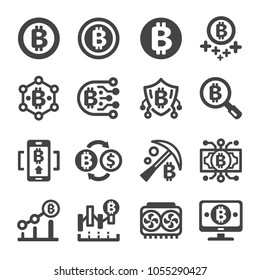 crypto currency,bitcon icon set