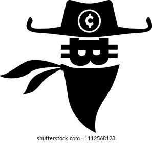 Crypto gangster. Vector Illustration