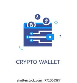 Crypto wallet vector icon