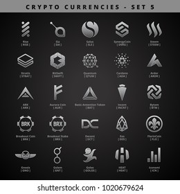 Cryptocurrencies - SET 5 - Silver Style