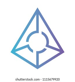 cryptocurrency augur symbol isolated icon