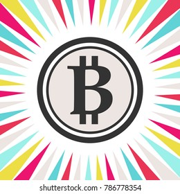 Cryptocurrency Bitcoin in dramatic effect.
