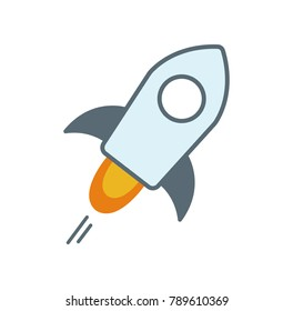 Cryptocurrency color icon (Stellar Lumens)