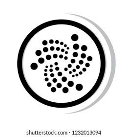 Cryptocurrency icon coin vector illustration : Iota MIOTA