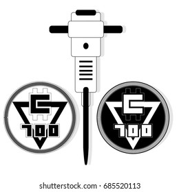 Cryptocurrency minig simbol. Illustration