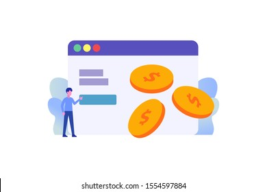 cryptocurrency security illustration concept for web landing page template, banner, flyer and presentation