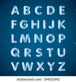 Crystal alphabet. Capital letters
