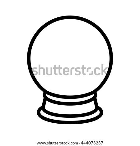 crystal ball fortune telling line art stock vector royalty free rh shutterstock com crystal ball clipart black and white crystal ball clip art free black and white