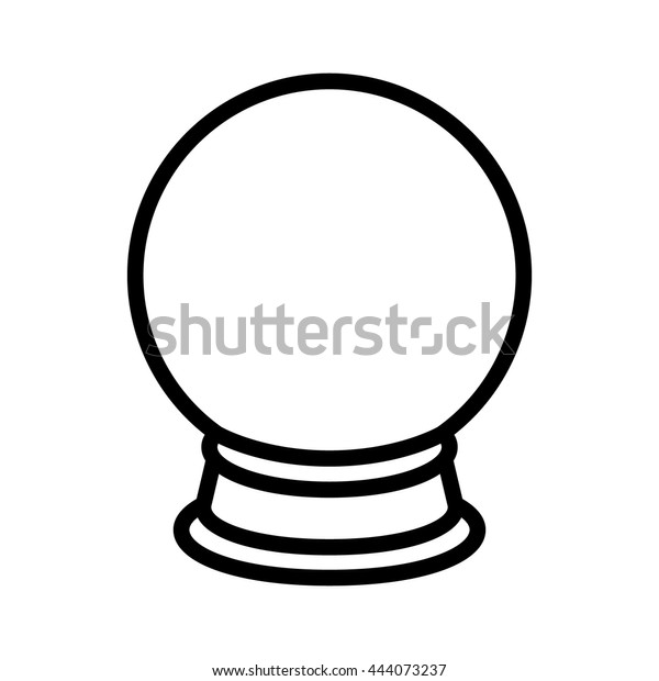 Crystal Ball Fortune Telling Line Art Stock Vector (Royalty