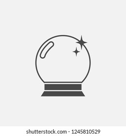 Crystal ball icon magic ball shining