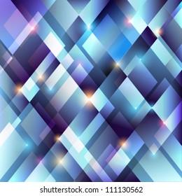 Crystal blue background - vector illustration.
