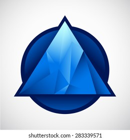 crystal blue triangle in the circle