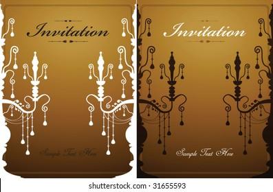 crystal chandelier invitation template 02