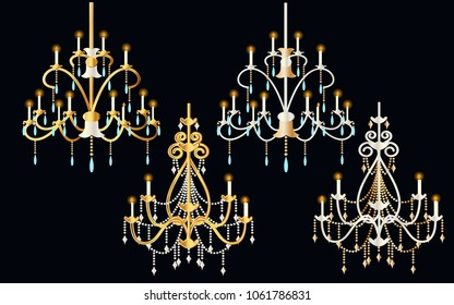 Crystal Chandelier painting