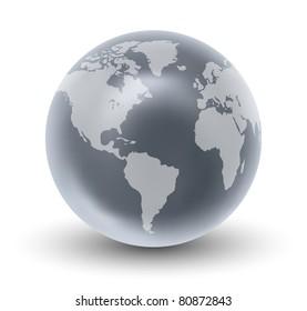Crystal Earth Globe ( EPS10 Vector)