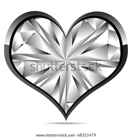 1a5ad6dd797f8 Crystal Heart Stock Vector (Royalty Free) 68321479 - Shutterstock