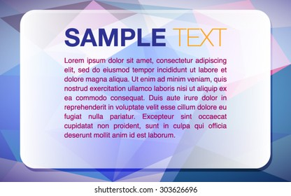 Crystal Presentation Text Panel Background - Vector