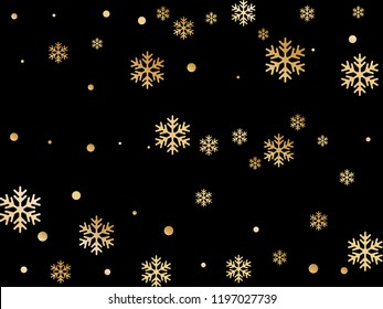 Crystal snowflake and circle elements vector backdrop. Cool winter snow confetti scatter card background. Flying colorful gradient snow flakes background, trendy water crystals vector.